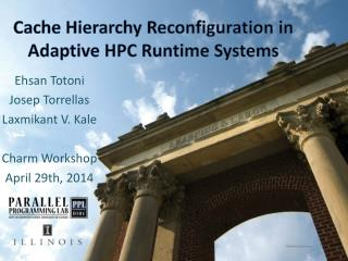 Cache Hierarchy Reconfiguration in Adaptive HPC Runtime Systems