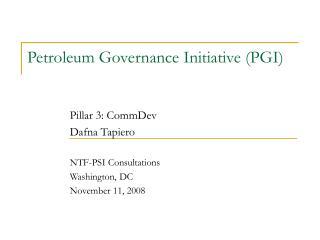 Petroleum Governance Initiative PGI
