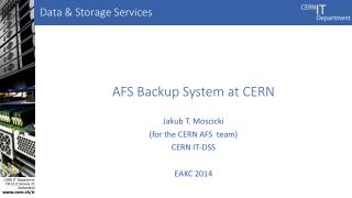 AFS Backup System at CERN
