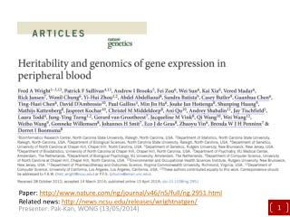 Heritability and genomics of gene expression in peripheral blood