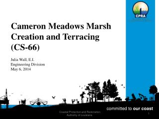 Cameron Meadows Marsh Creation and Terracing (CS-66)