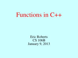 Functions in C ++