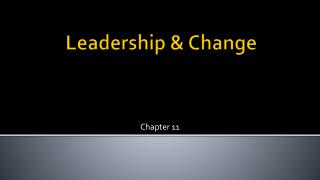 Leadership & Change