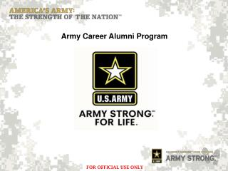 Army Career Alumni Program