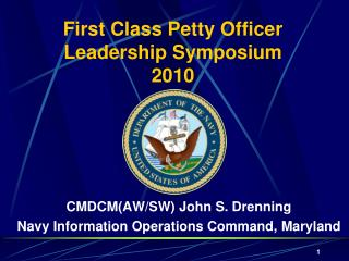 First Class Petty Officer  Leadership Symposium  2010