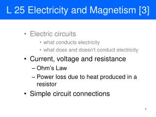 L 25 Electricity and Magnetism [3]