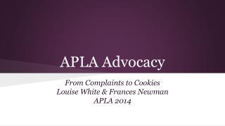 APLA Advocacy