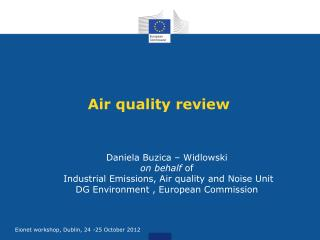 Air quality review