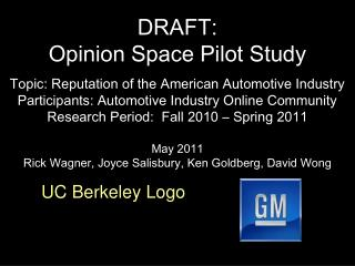 DRAFT: Opinion Space Pilot Study