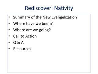 Rediscover: Nativity