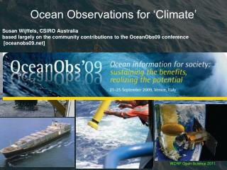 Ocean Observations for 'Climate'