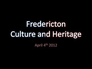 Frede ricton Culture an d Heritage