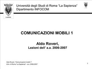 COMUNICAZIONI MOBILI 1