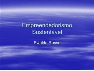 Empreendedorismo Sustent vel
