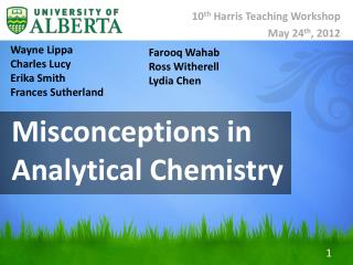 Misconceptions in Analytical Chemistry