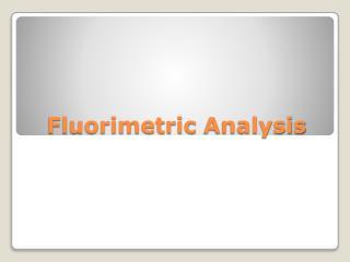 Fluorimetric  Analysis