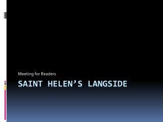 Saint Helen's  Langside