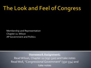 The Look and Feel of Congress