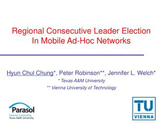 Regional Consecutive Leader Election In Mobile Ad-Hoc Networks