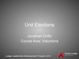 Unit Elections