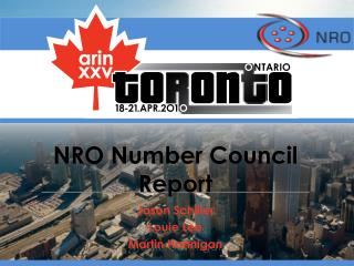 NRO Number Council Report