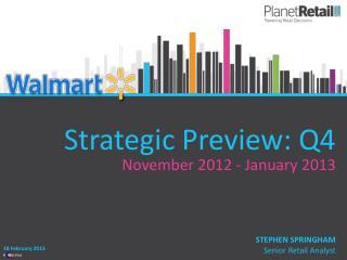 Strategic Preview: Q4