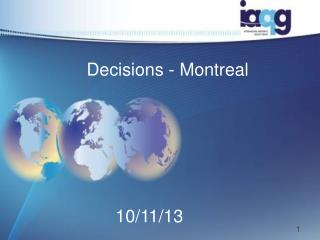 Decisions - Montreal