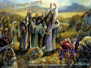 FROM COMPLAINTS TO APOSTASY