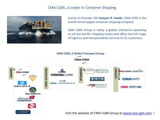 CMA CGM, a Leader in Container Shipping