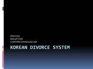 Korean divorce system