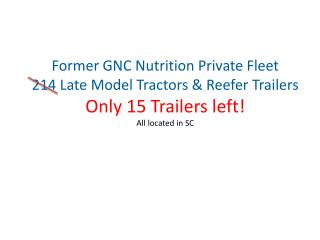 Former GNC Nutrition Private Fleet
