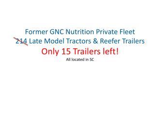 Former GNC Nutrition Private Fleet
