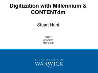 Digitization with Millennium &  CONTENTdm