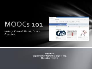 MOOCs  101