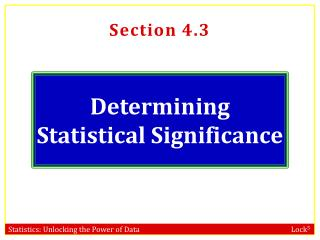 Determining Statistical Significance