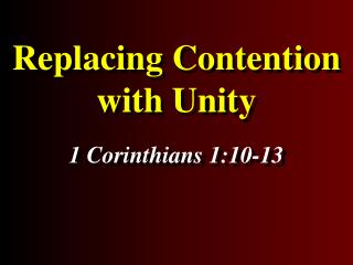 Replacing Contention with Unity