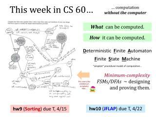 This week  in CS  60…