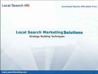 Local Search Marketing Solutions