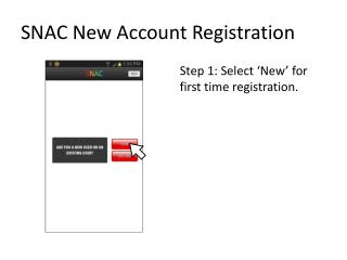 SNAC New  Account Registration