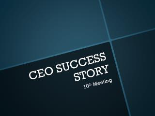CEO SUCCESS STORY