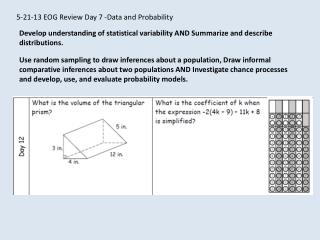 5-21-13 EOG Review Day 7 -Data and Probability