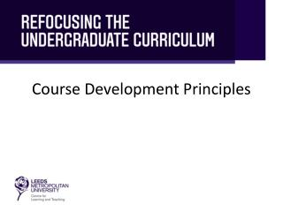 Course Development Principles