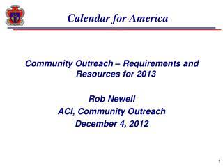 Calendar for America