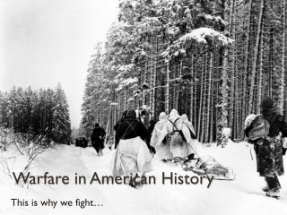 Warfare in American History