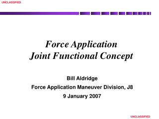 Force Application Joint Functional Concept