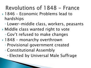 Revolutions of 1848 - France