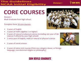 The Guidelines NCAA Initial Eligibility