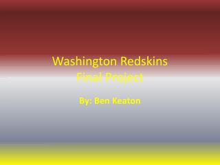 Washington Redskins Final Project