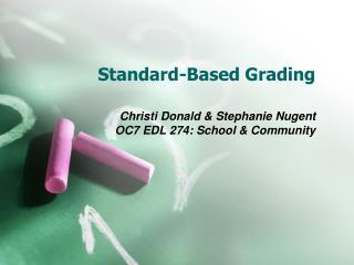Standard-Based Grading