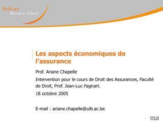 Les aspects  conomiques de l assurance